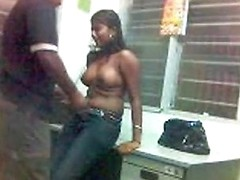 Indiana Beauty Is Wildly Fucking On The Counter With Her Any Porn